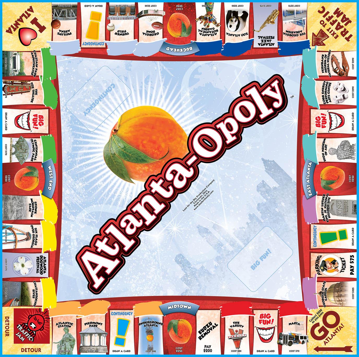 Atlanta-opoly Board Game