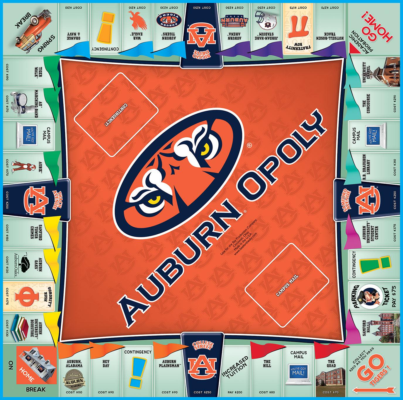 AUBURNOPOLY Board Game