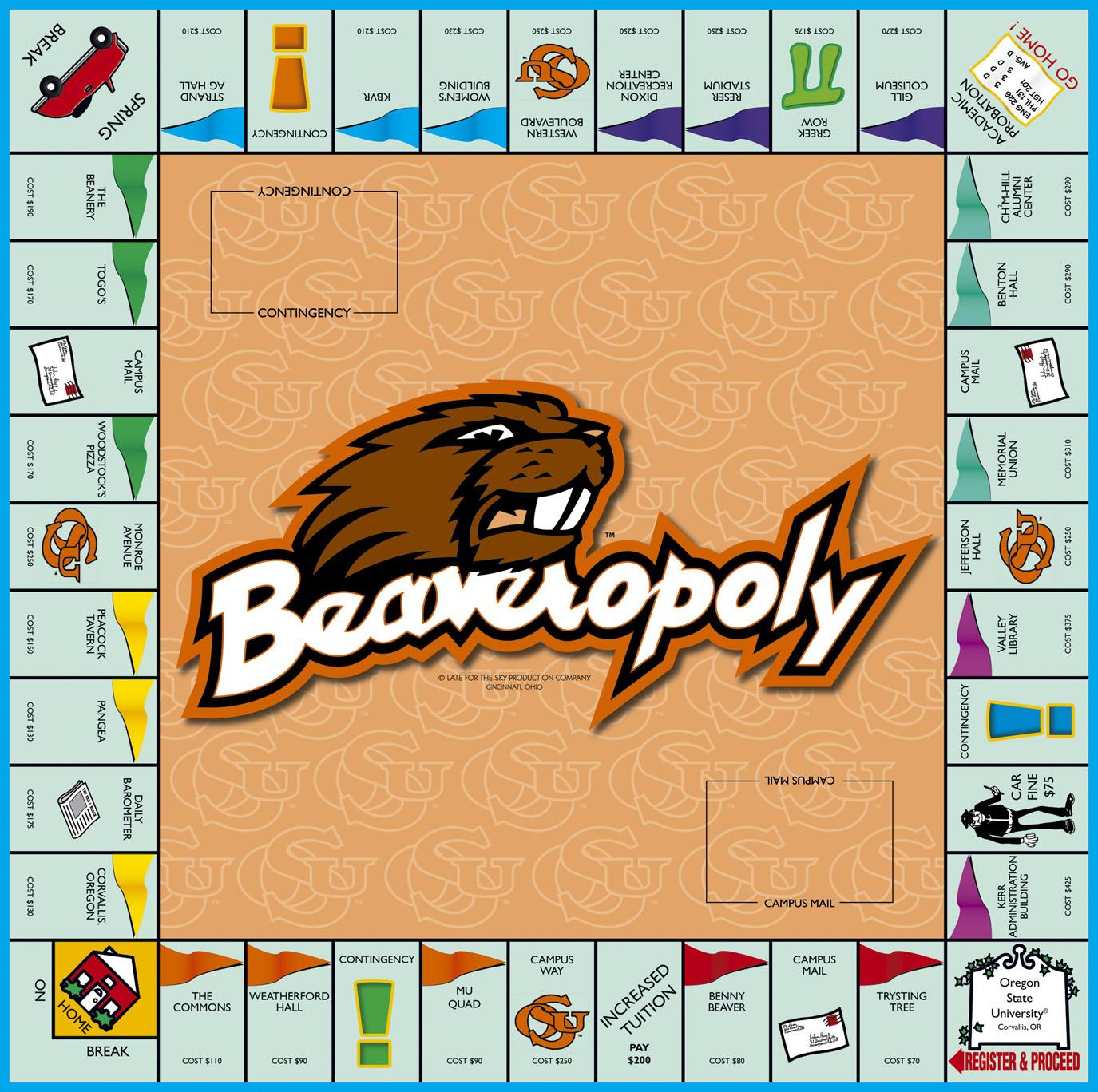 BEAVEROPOLY Board Game