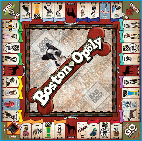 BOSTON TERRIER-OPOLY Board Game