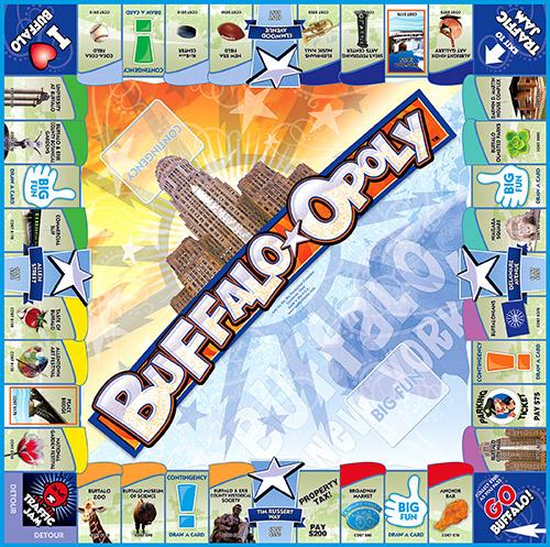 BUFFALO-OPOLY Board Game
