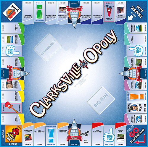 CLARKSVILLE-OPOLY Board Game