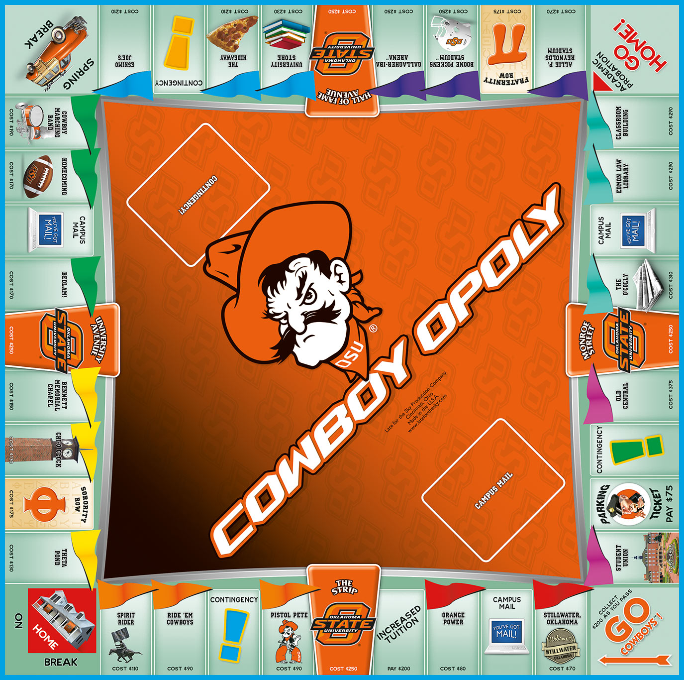 COWBOYOPOLY Board Game