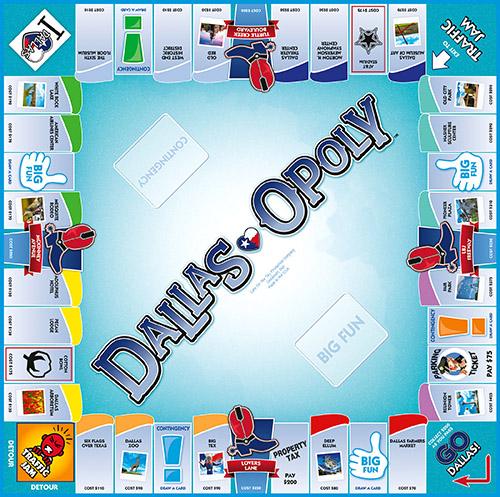DALLAS-OPOLY Board Game