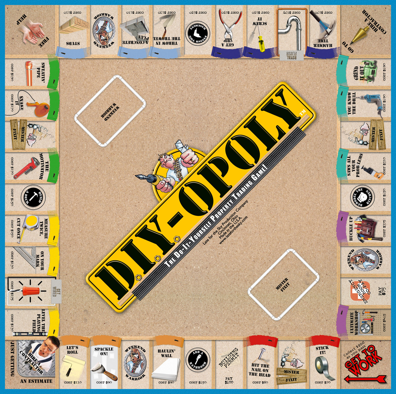 DIY-OPOLY Board Game