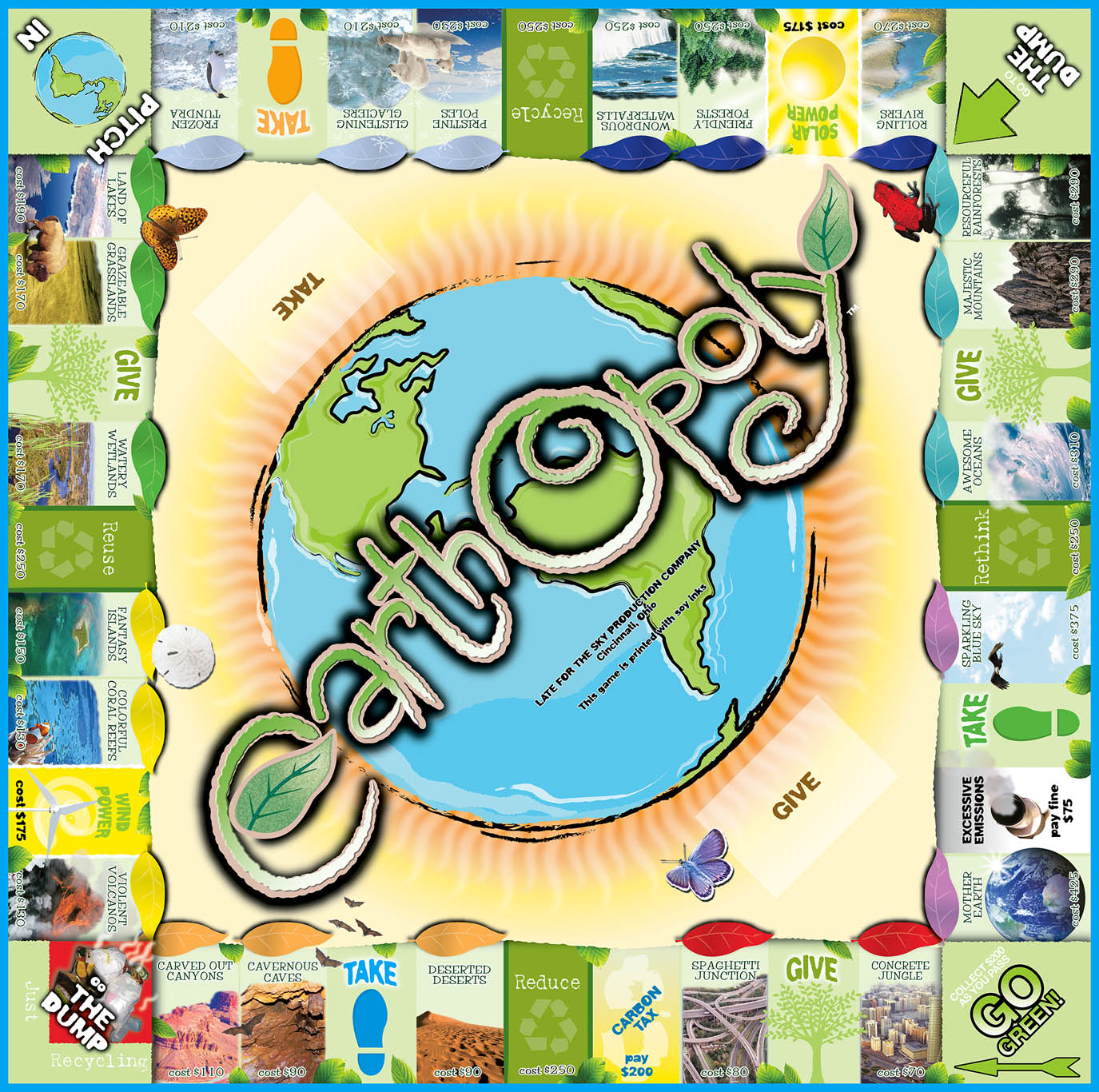 EARTH-OPOLY Board Game