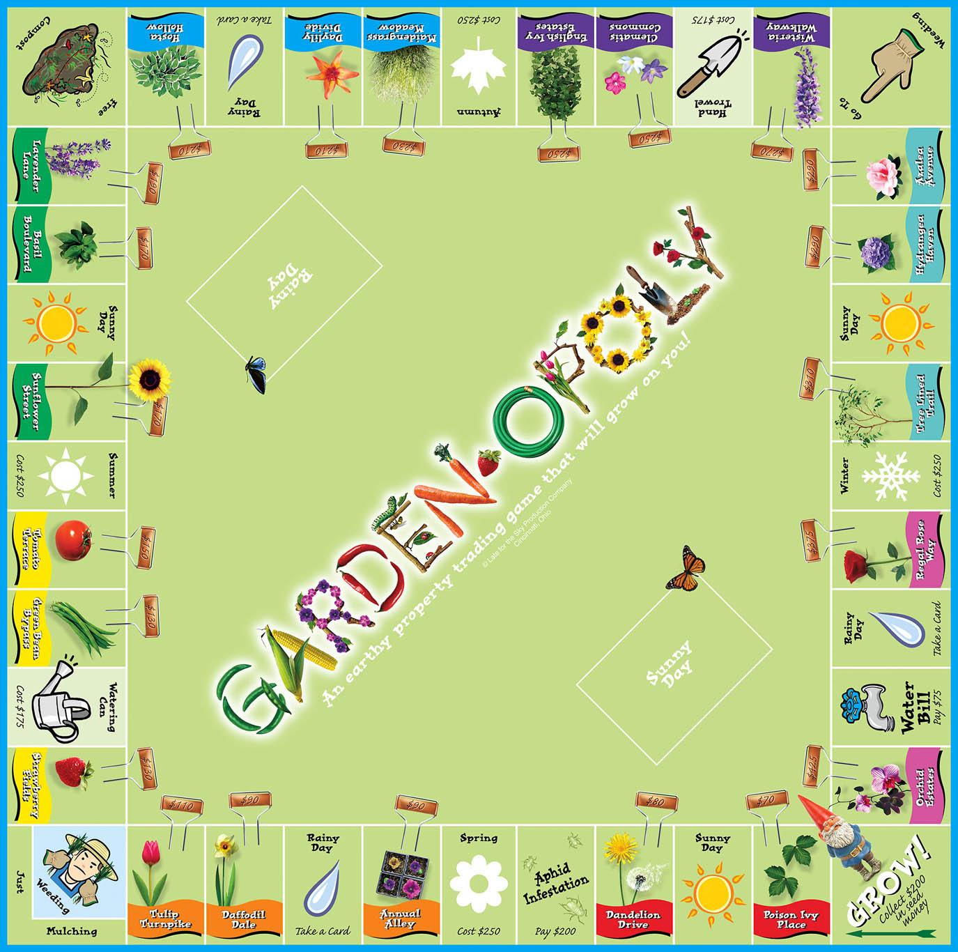 GARDEN-OPOLY Board Game