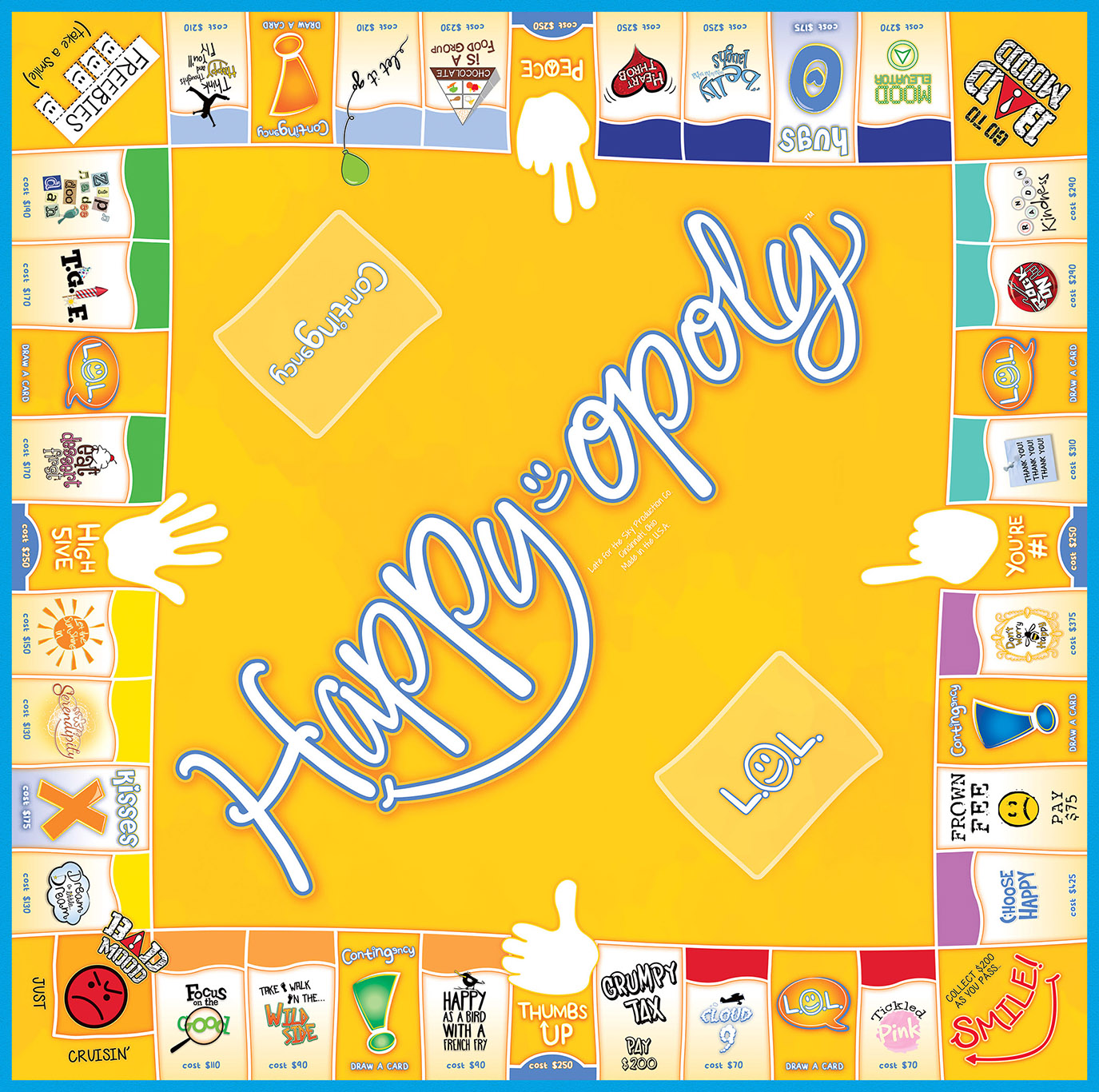 HAPPY-OPOLY Board Game