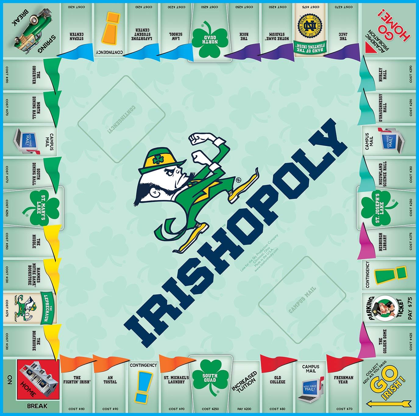 IRISHOPOLY Board Game