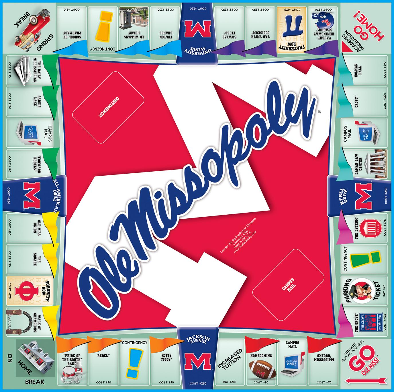 OLE MISSOPOLY Board Game