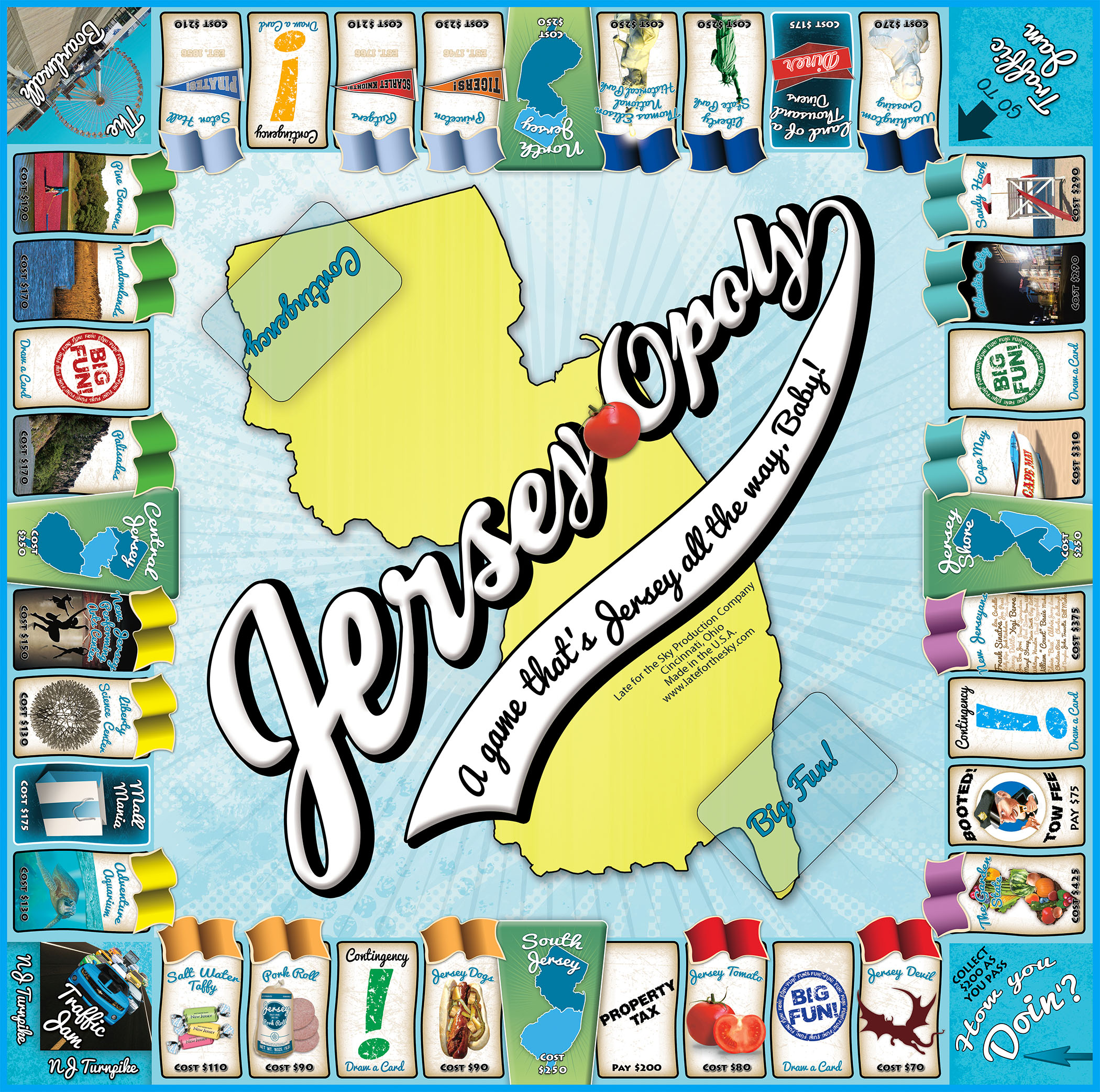 JERSEY-OPOLY Board Game