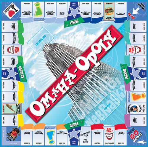 OMAHA-OPOLY Board Game