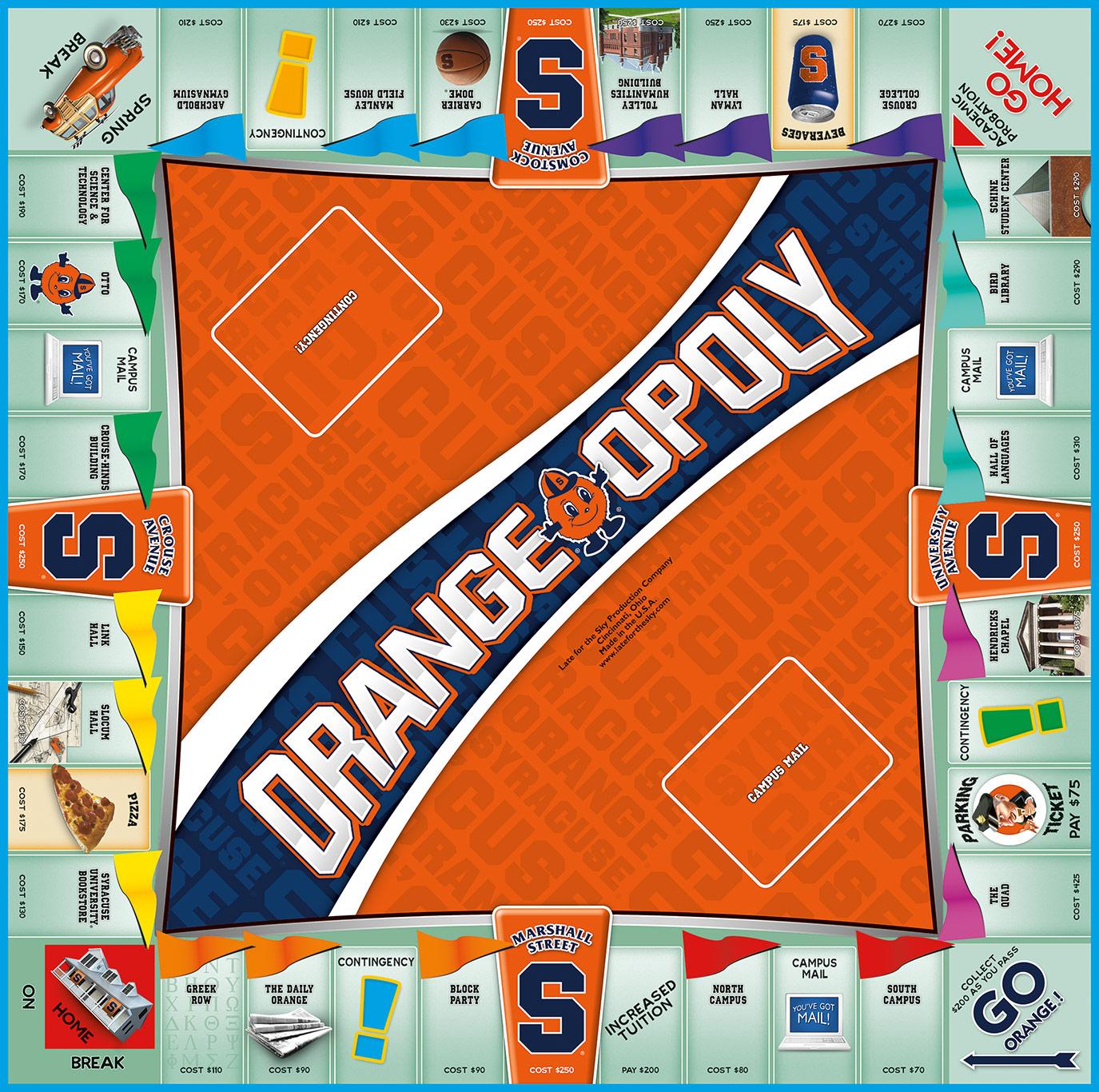 ORANGE OPOLY Board Game