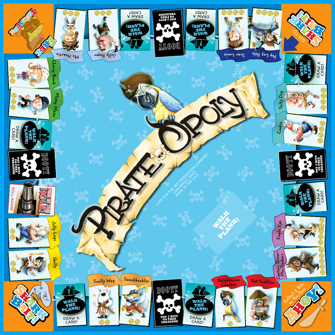 PIRATE-OPOLY Board Game