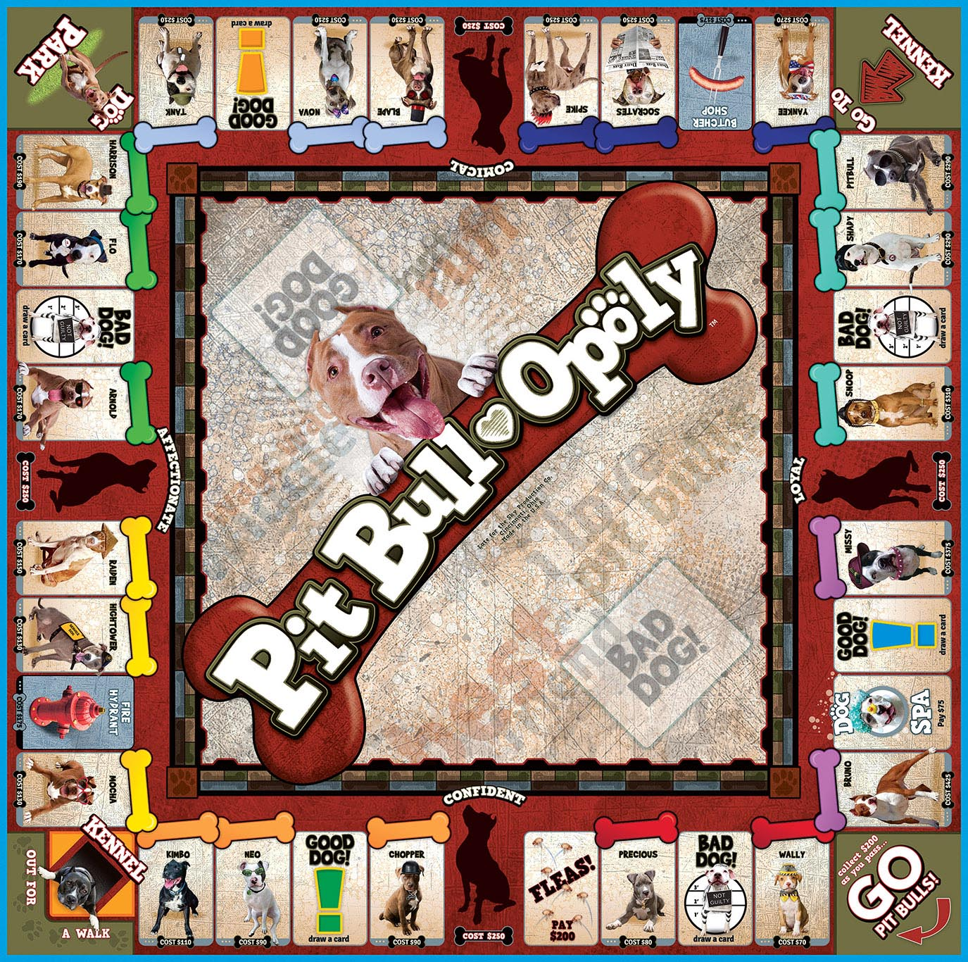 PITBULL-OPOLY Board Game