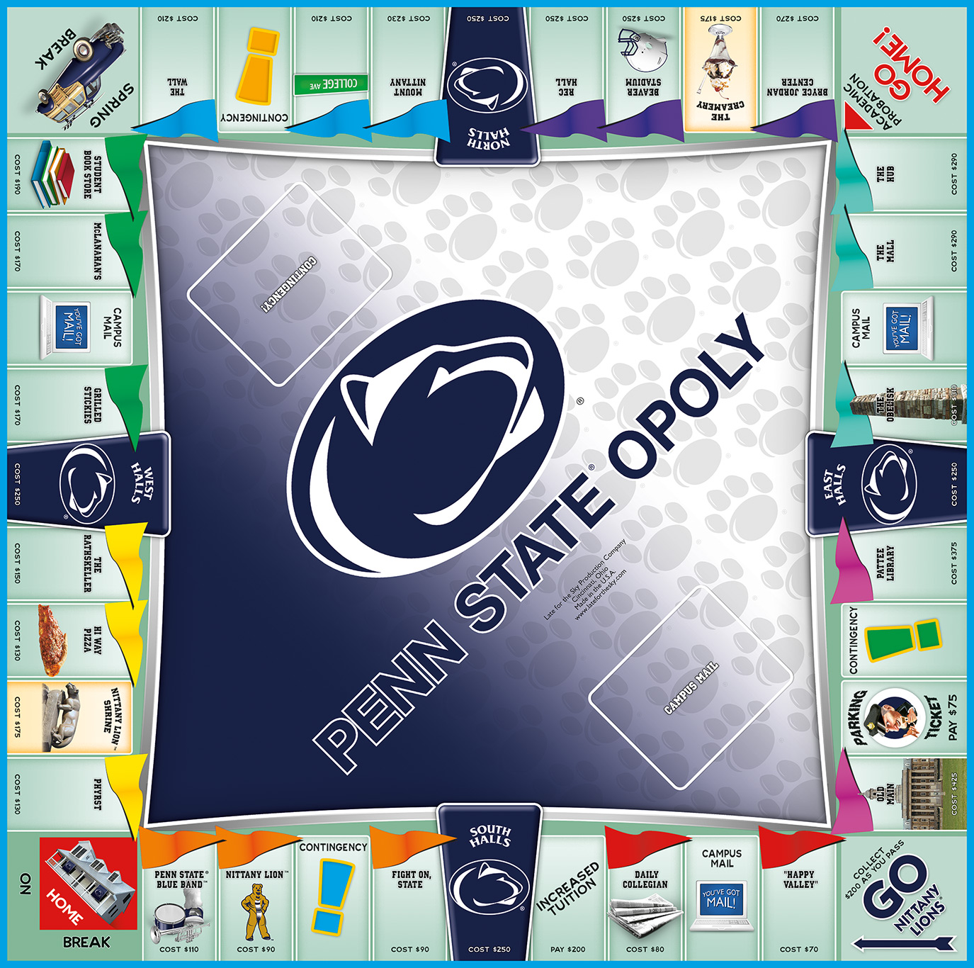 PENN STATEOPOLY Board Game