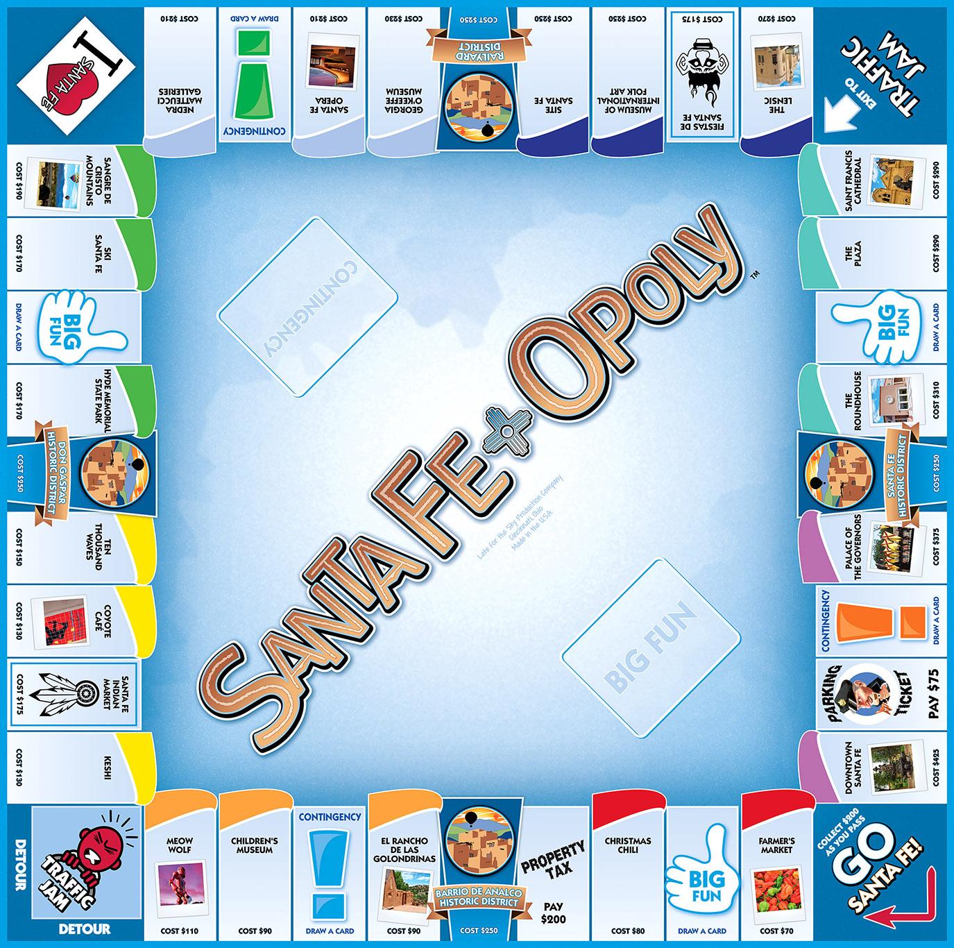 SANTA FE-OPOLY Board Game