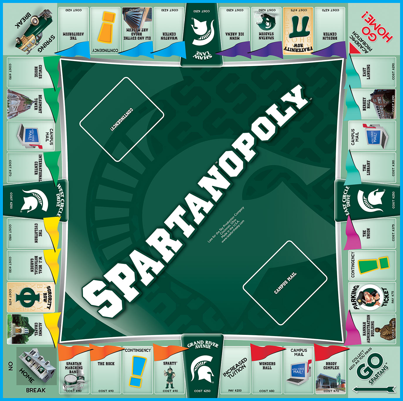 SPARTANOPOLY Board Game
