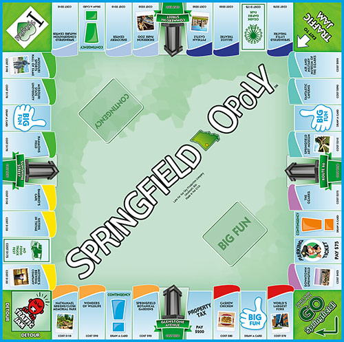 SPRINGFIELD-OPOLY Board Game