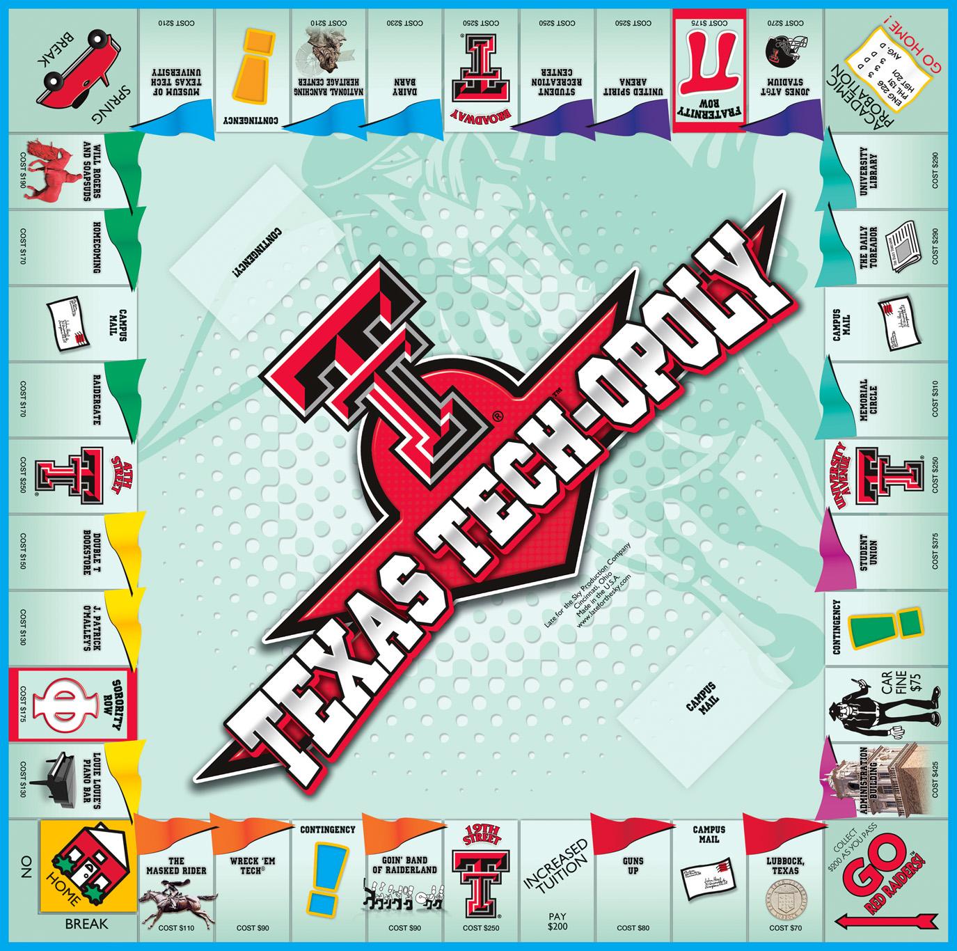 TEXAS TECHOPOLY Board Game
