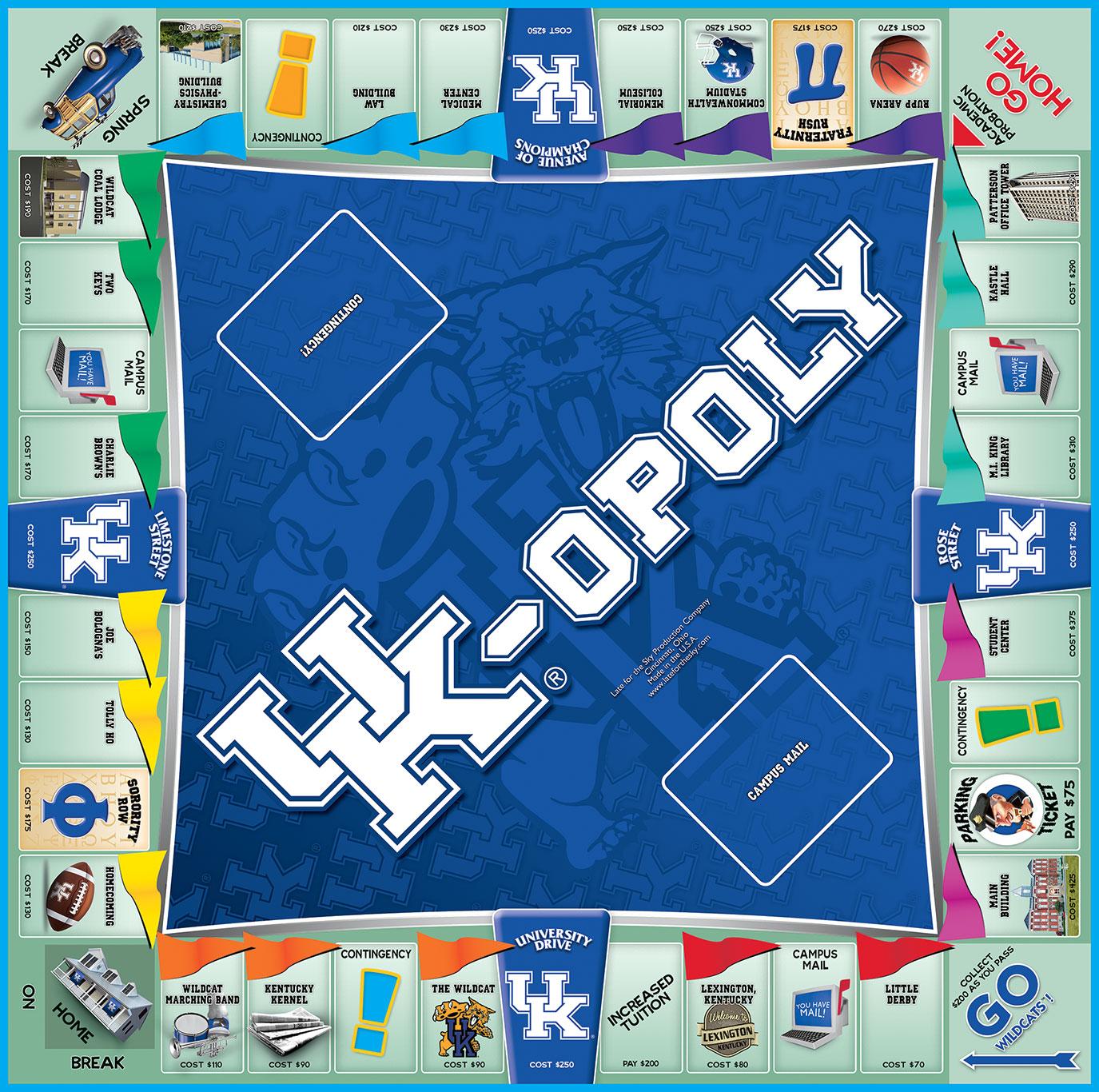 UK-OPOLY Board Game