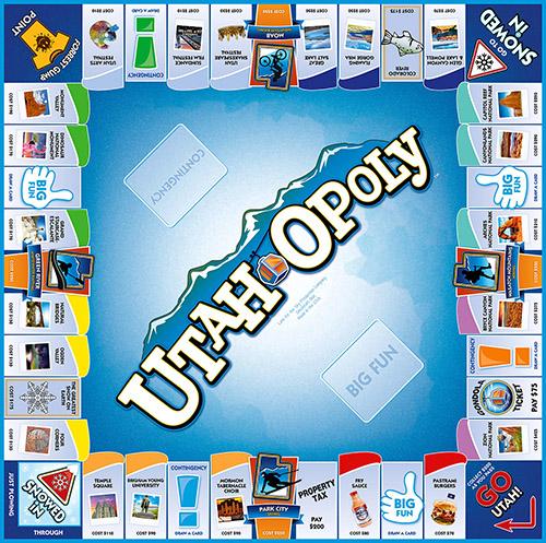 UTAH-OPOLY Board Game