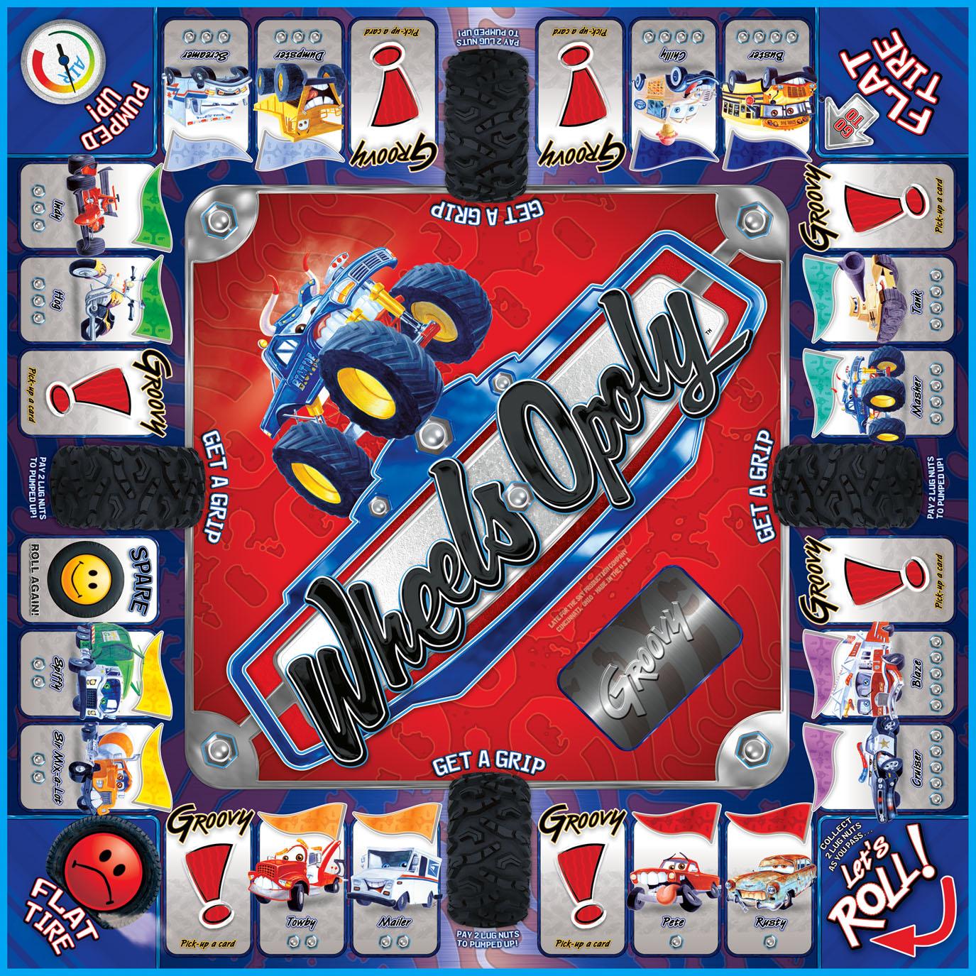 WHEELS-OPOLY Board Game