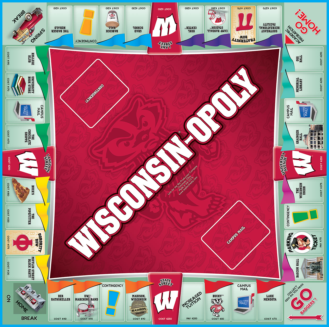 WISCONSIN-OPOLY Board Game