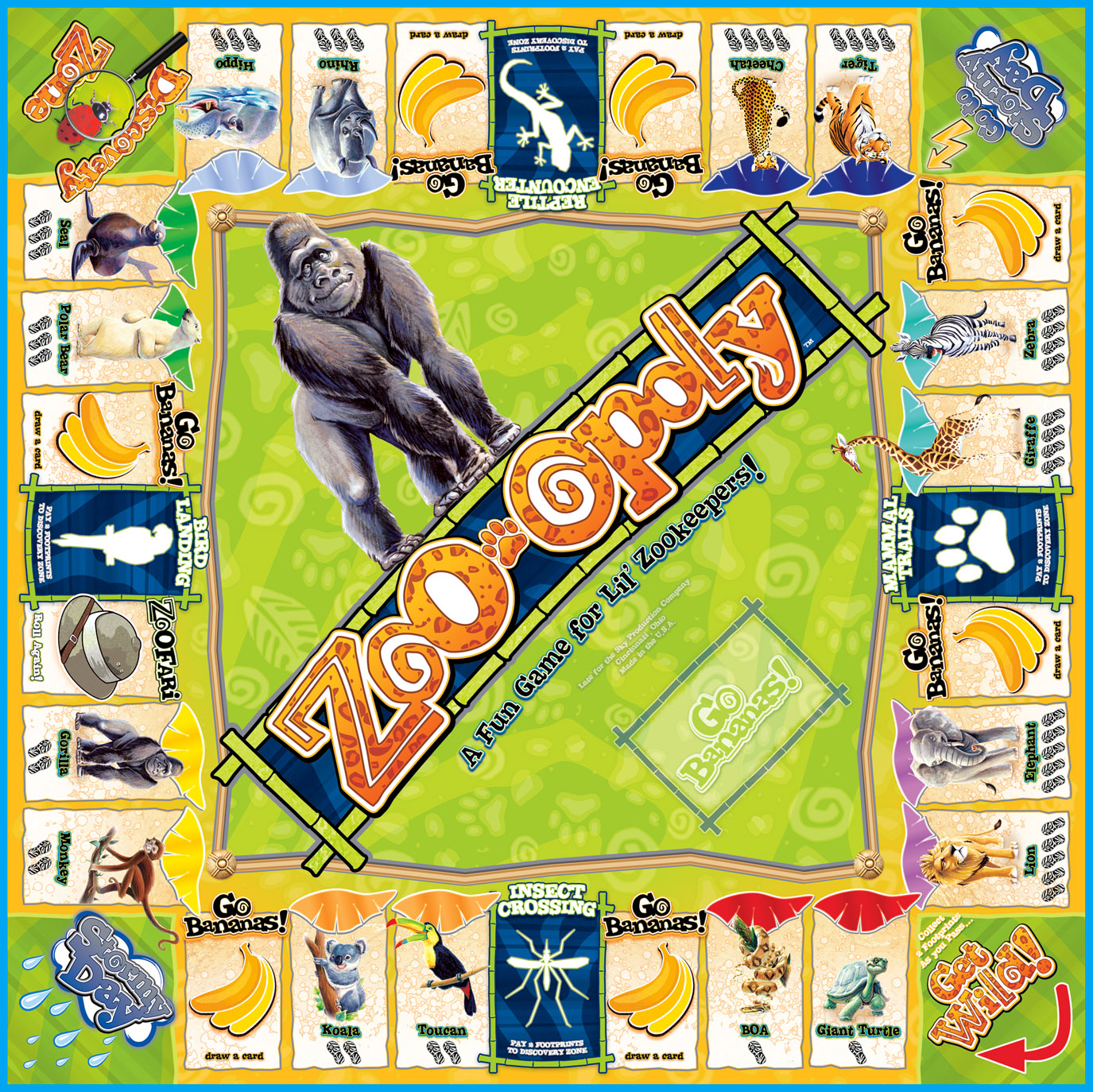 ZOO-OPOLY Board Game