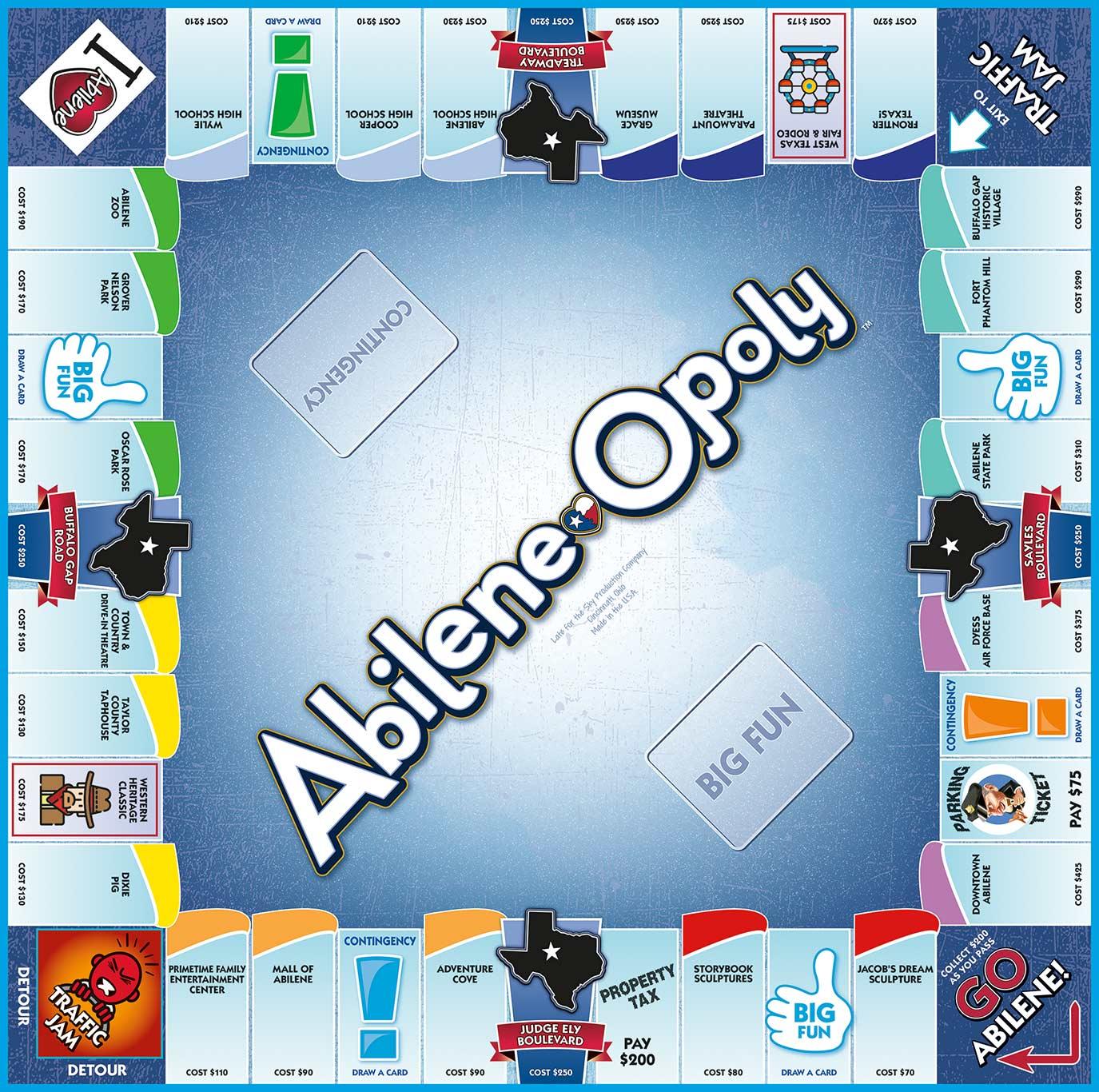 ABILENE-OPOLY Board Game