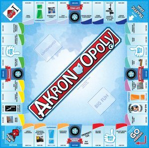 AKRON-OPOLY Board Game