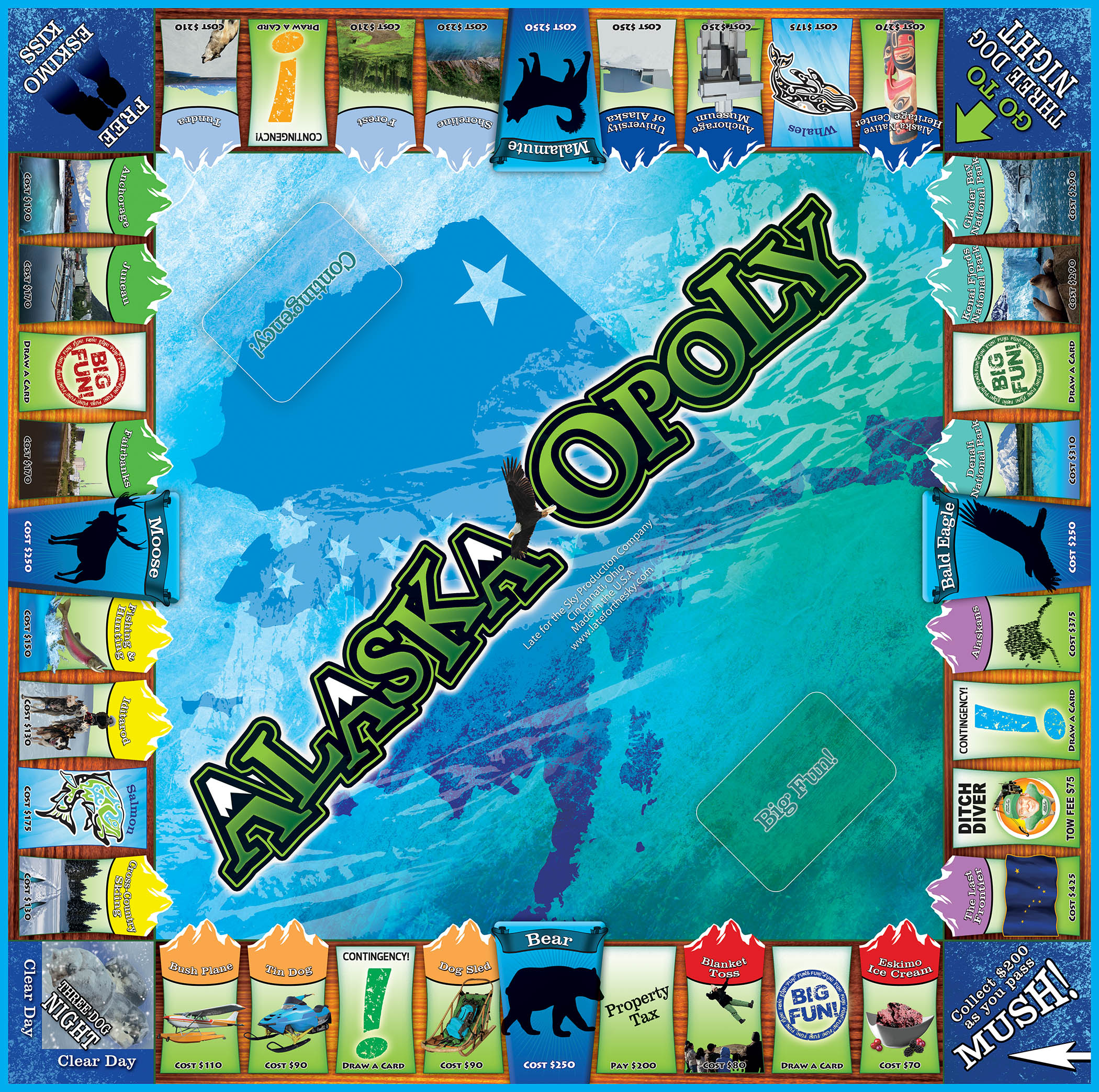 ALASKA-OPOLY Board Game