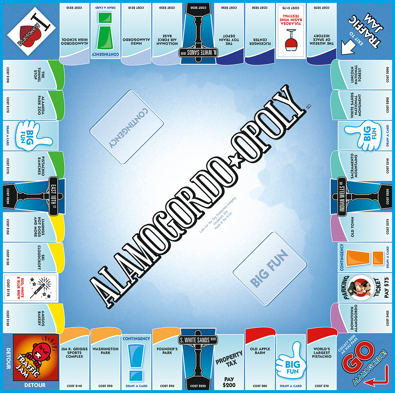 ALAMOGORDO-OPOLY Board Game
