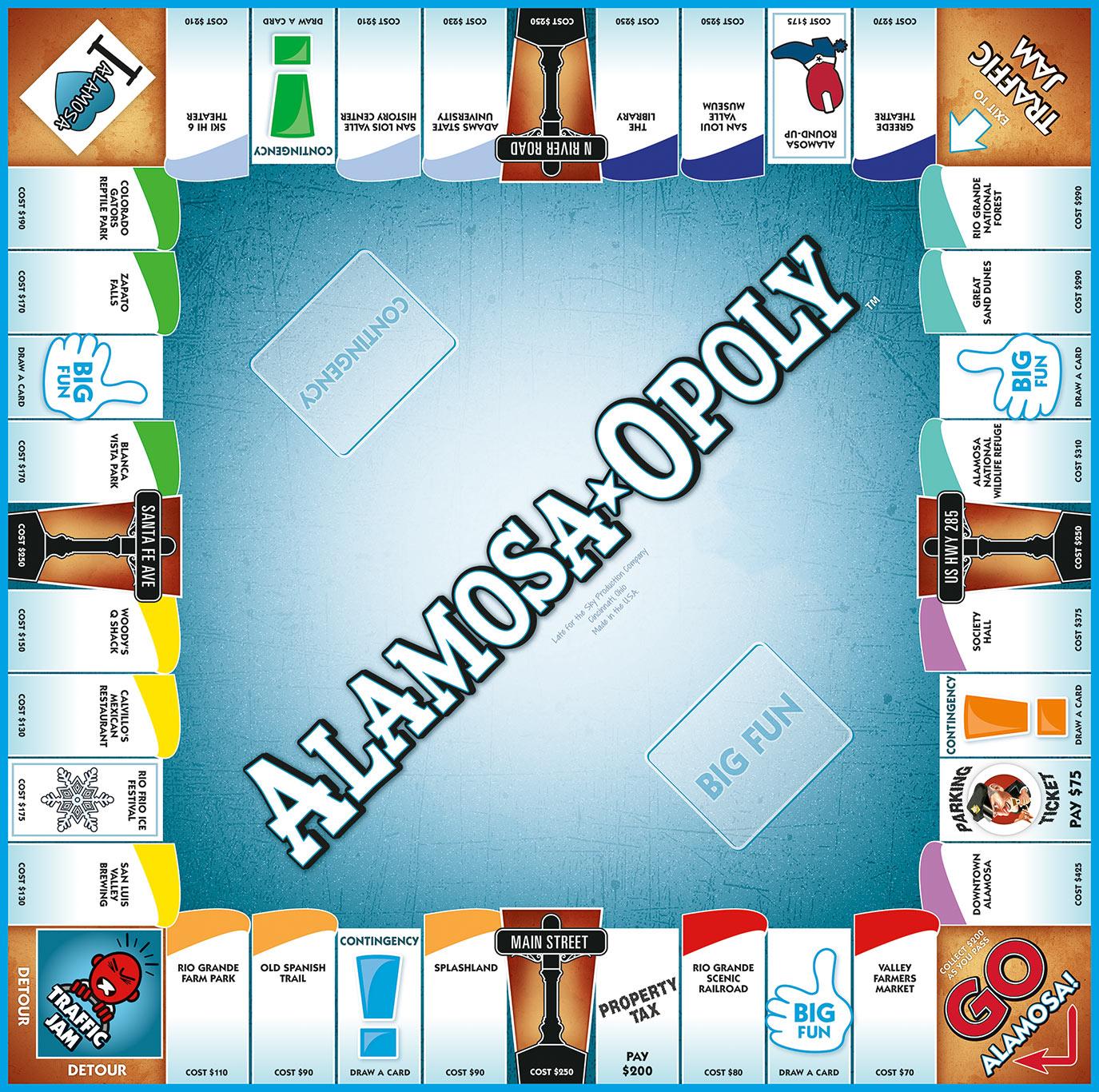 ALAMOSA-OPOLY Board Game