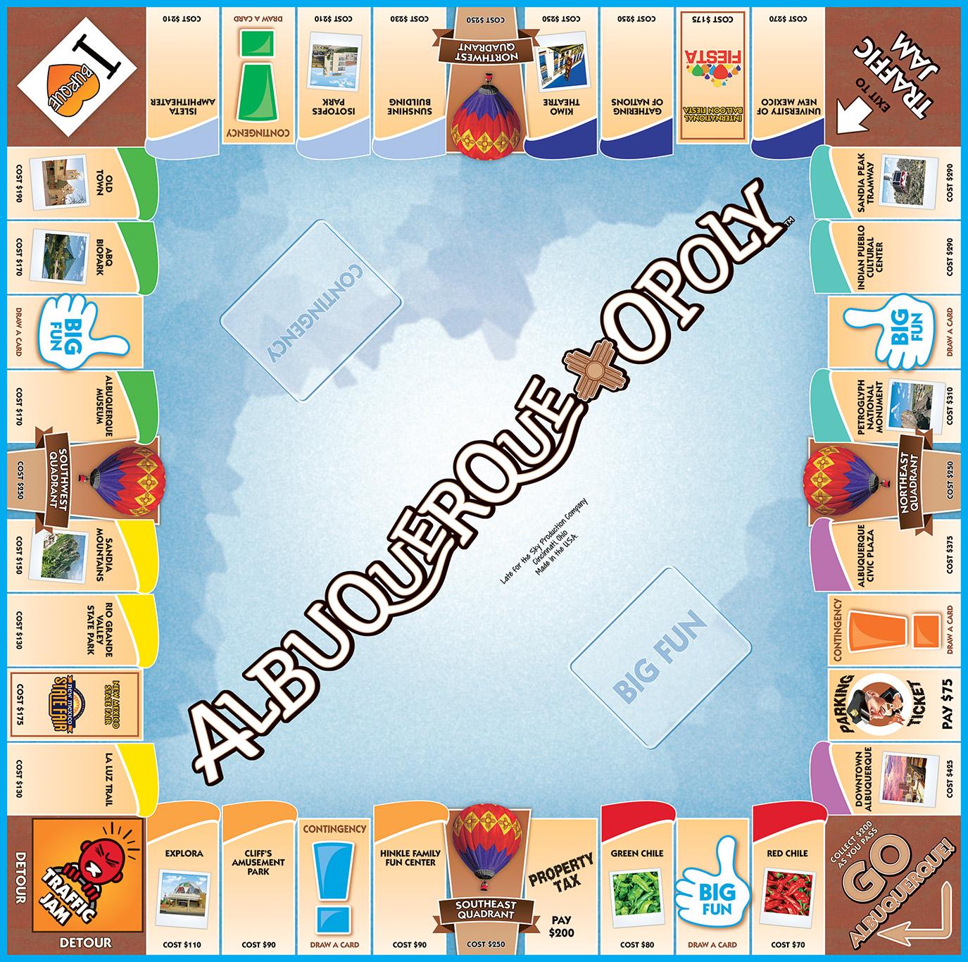 ALBUQUERQUE-OPOLY Board Game