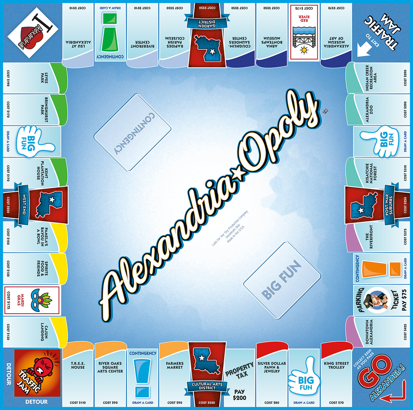 ALEXANDRIA-OPOLY Board Game