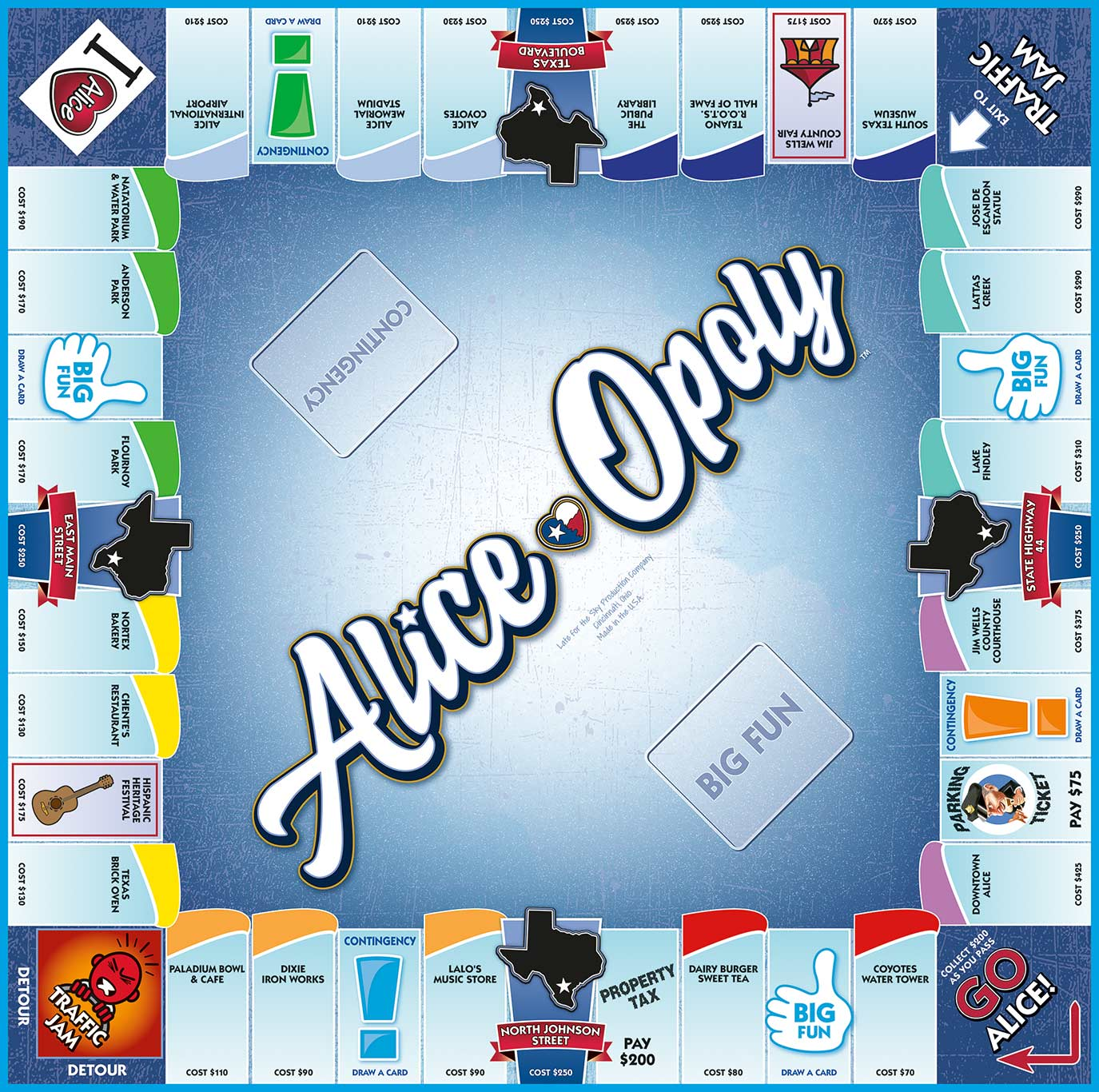 ALICE-OPOLY Board Game