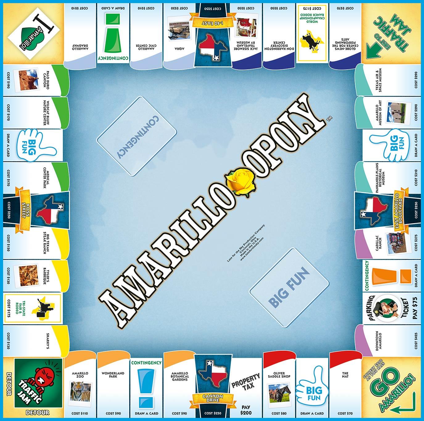 AMARILLO-OPOLY Board Game