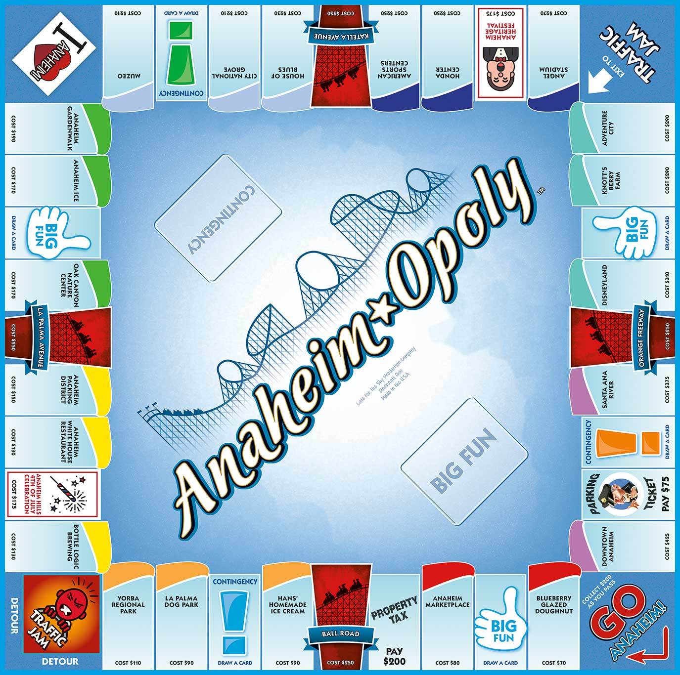 ANAHEIM-OPOLY Board Game