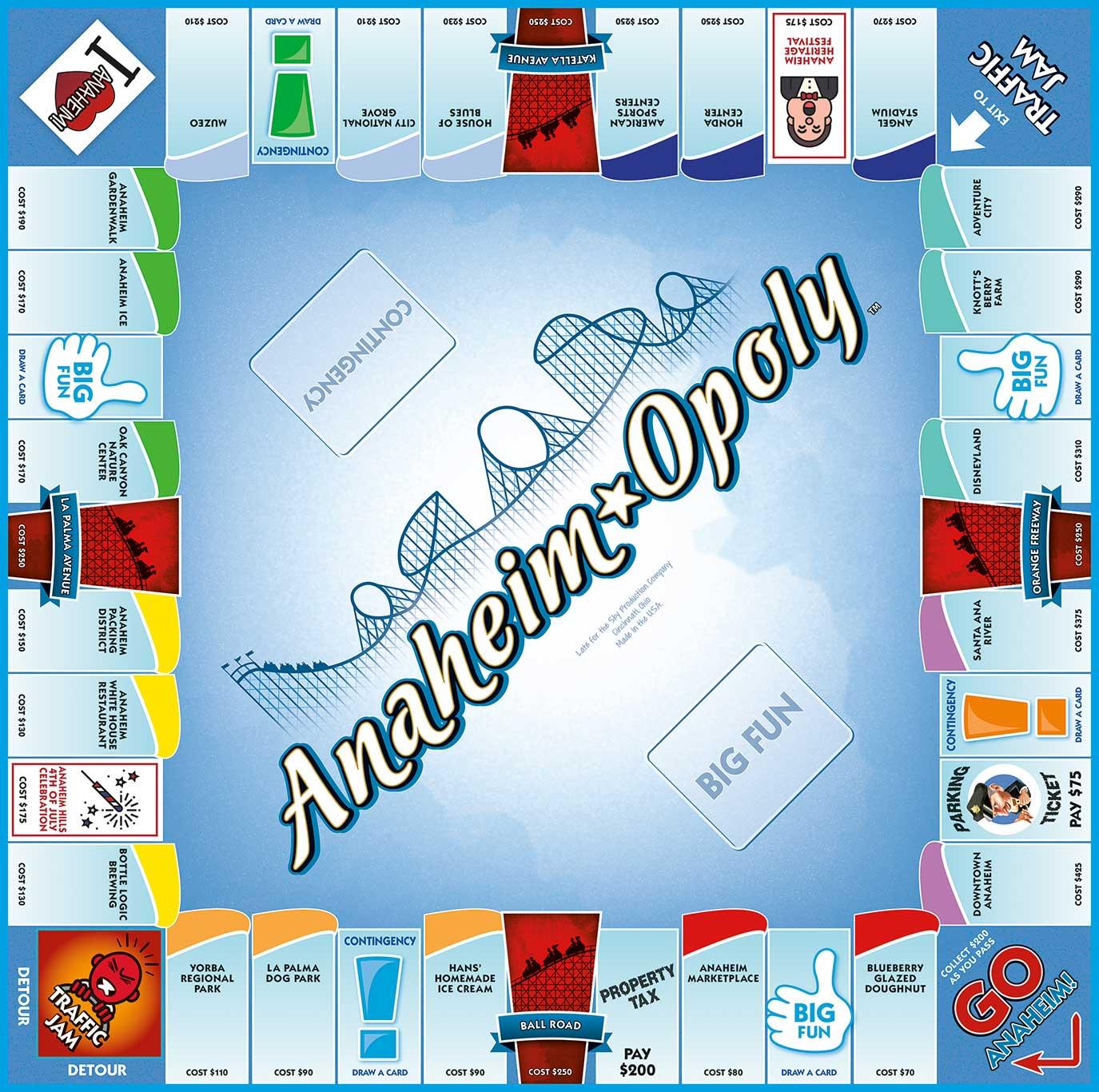 ANAHEIM-OPOLY Board Game