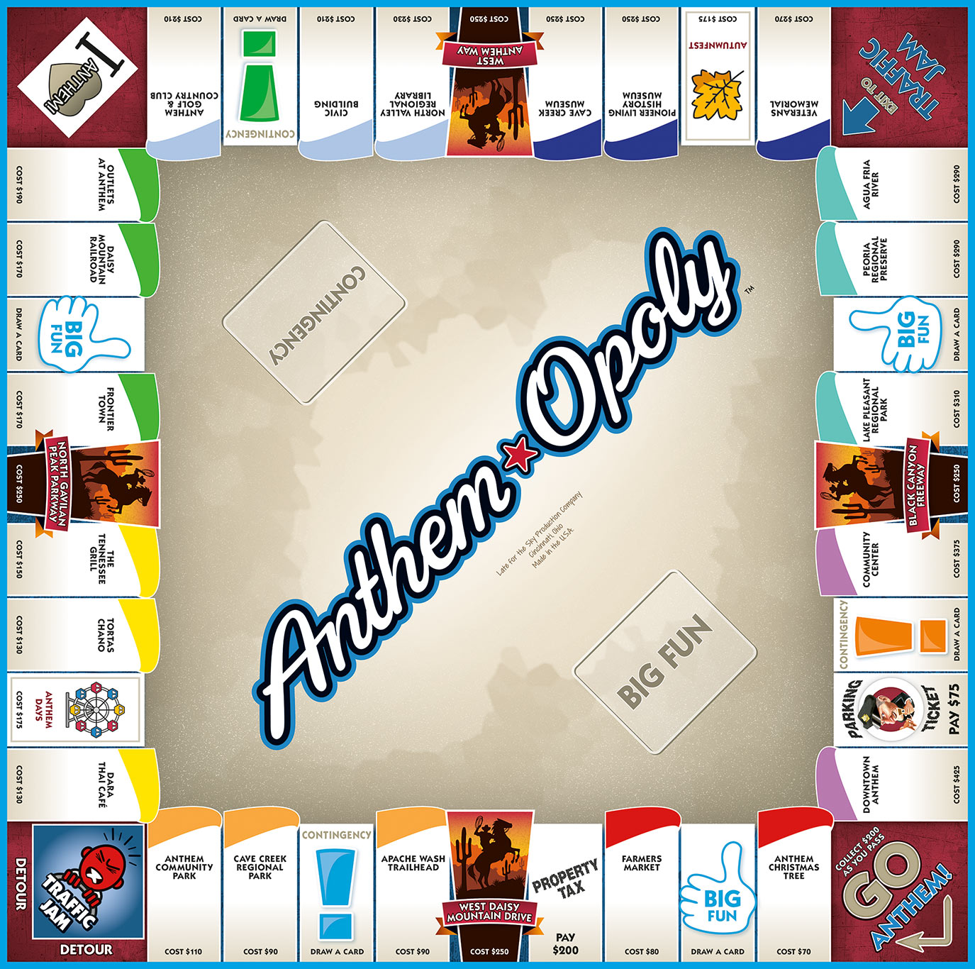 ANTHEM-OPOLY Board Game