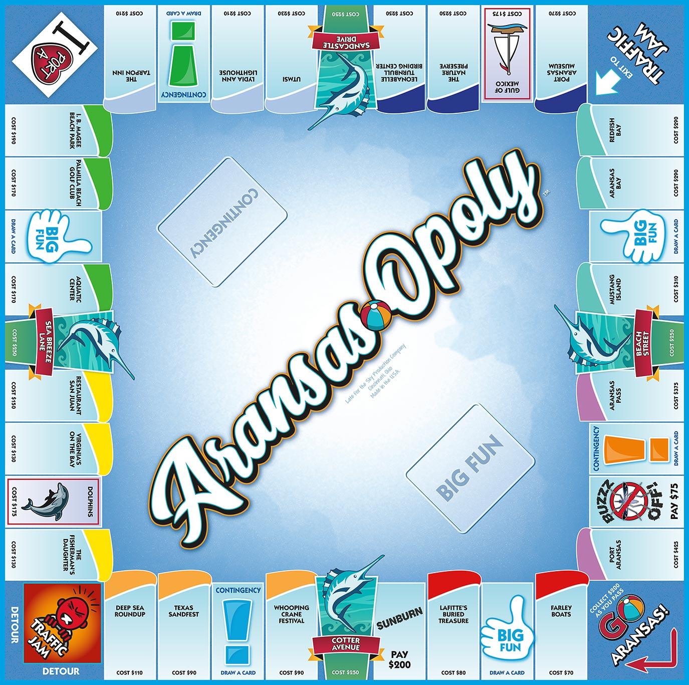 ARANSAS-OPOLY Board Game