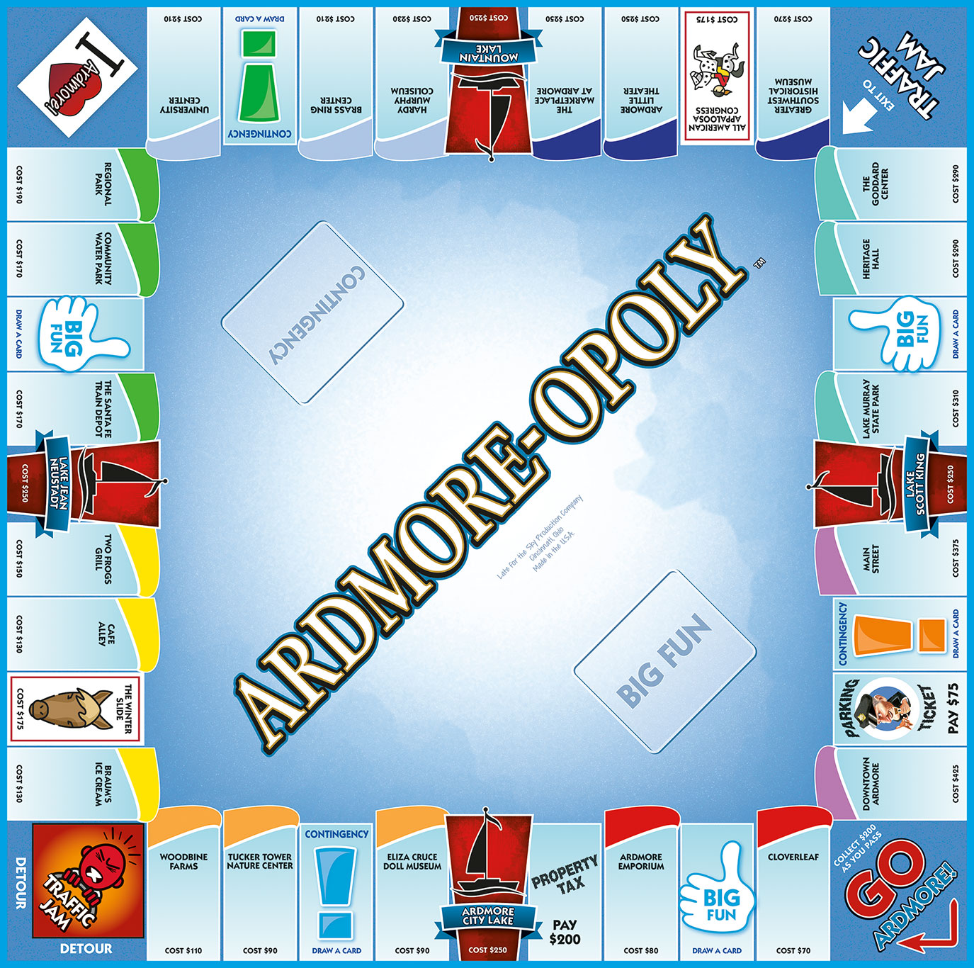 ARDMORE-OPOLY Board Game