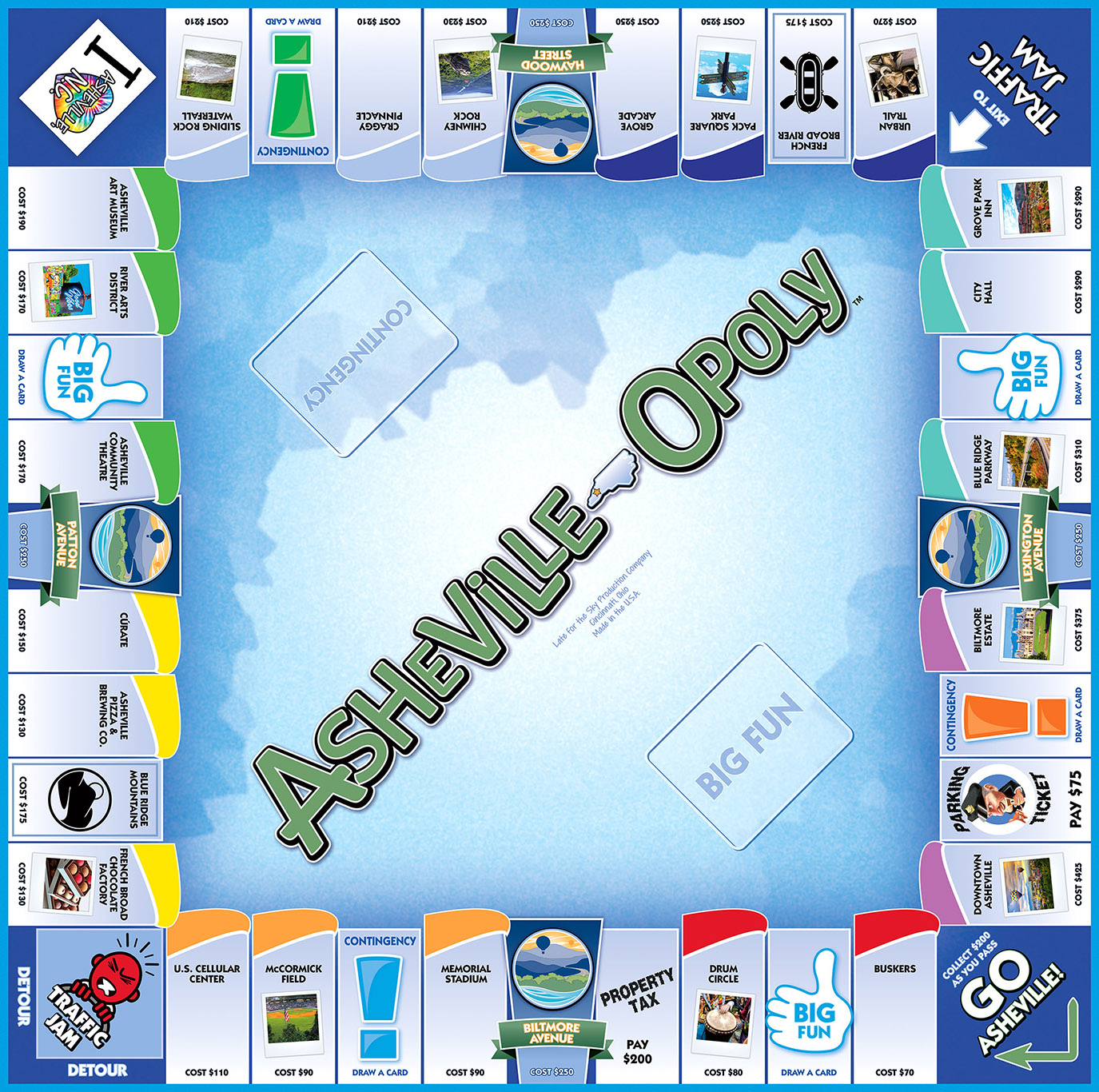 ASHEVILLE-OPOLY Board Game