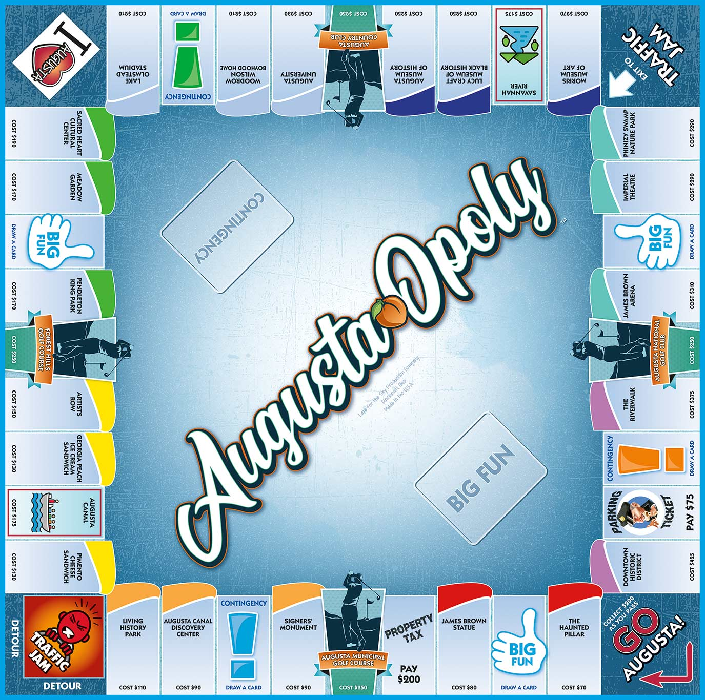AUGUSTA-OPOLY Board Game