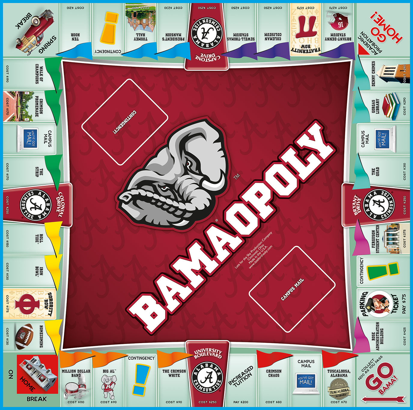 BAMAOPOLY Board Game