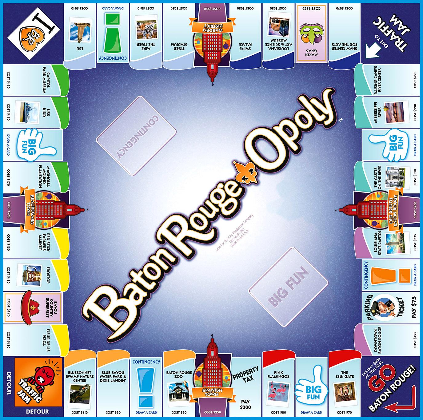 BATON ROUGE-OPOLY Board Game