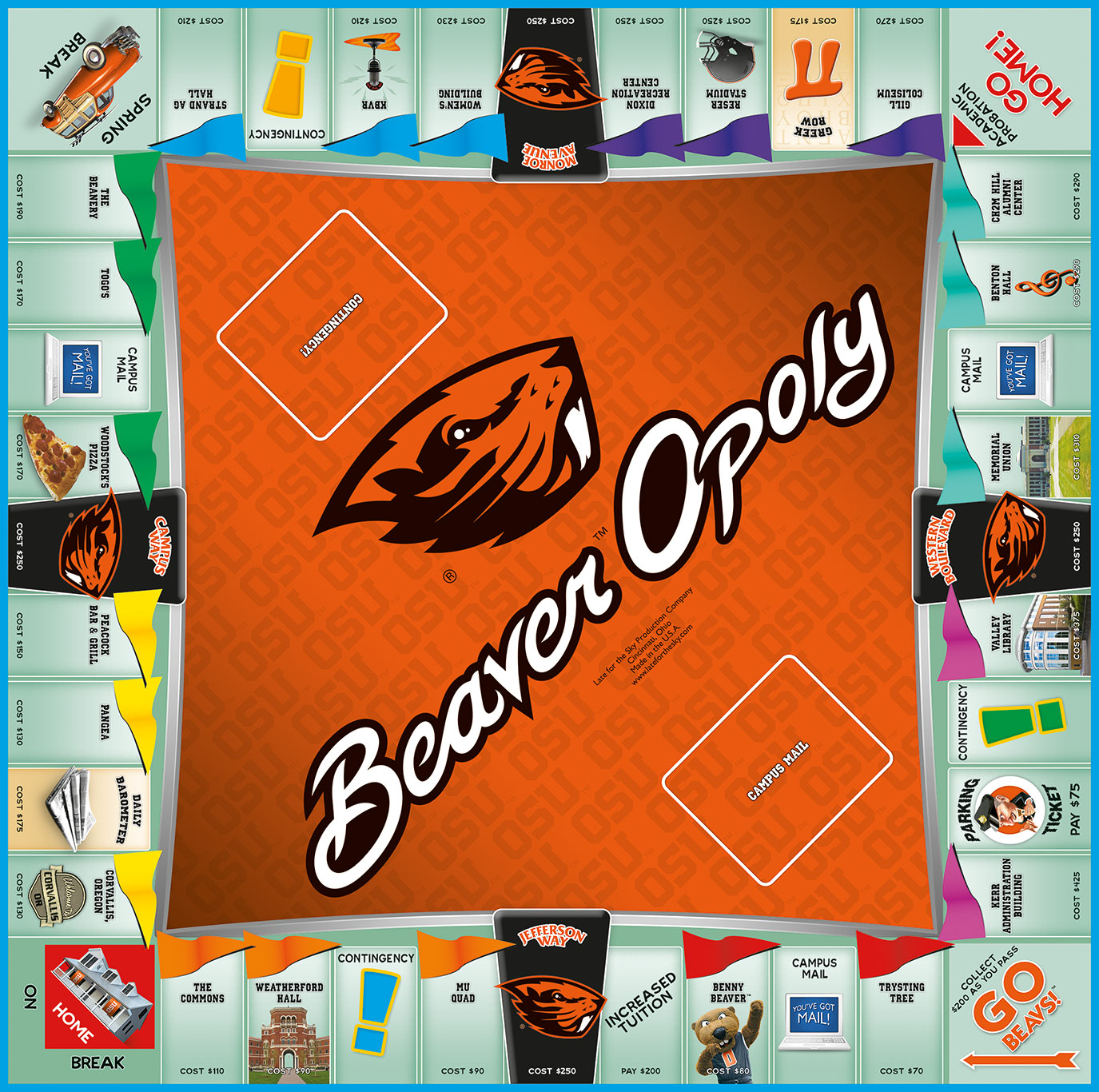 BEAVEROPOLY Board Game