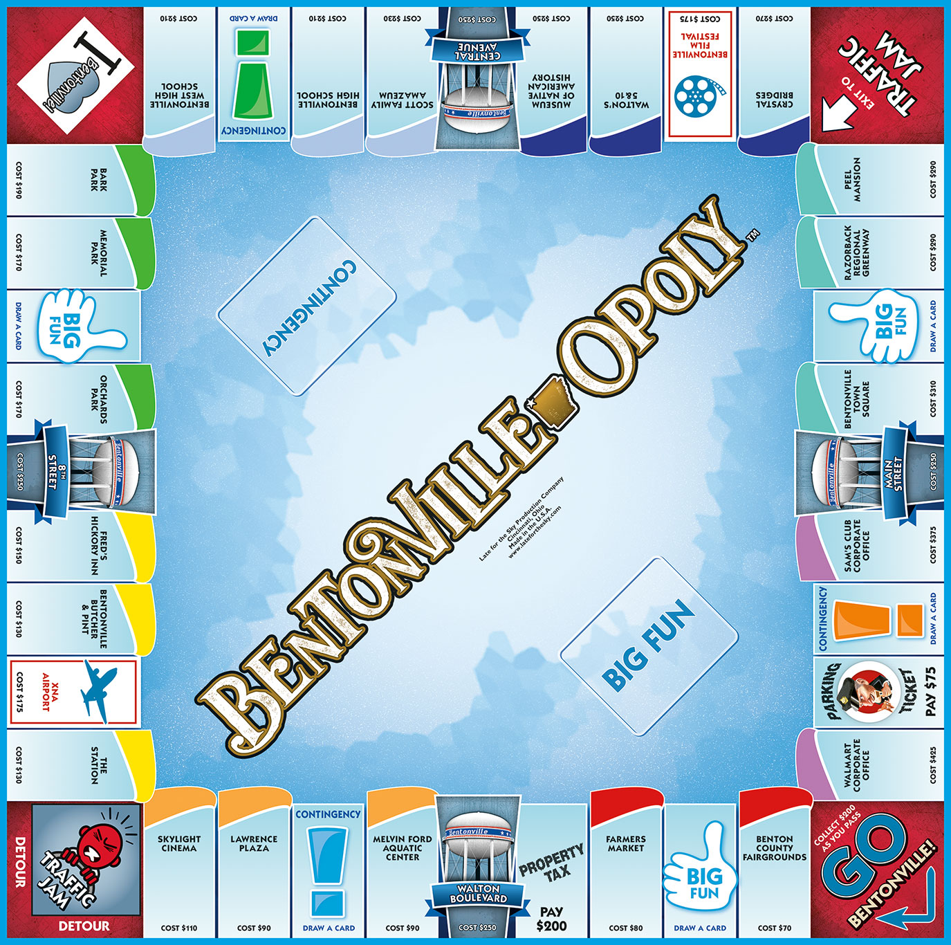 BENTONVILLE-OPOLY Board Game