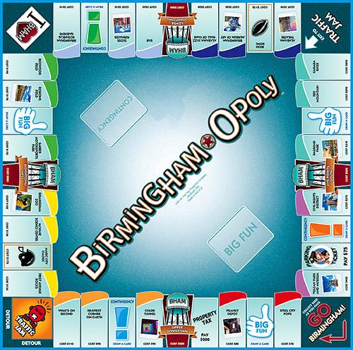 BIRMINGHAM-OPOLY Board Game